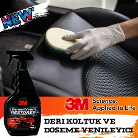 3M 39040 Car Leather Seat and Upholstery Cleaner -..