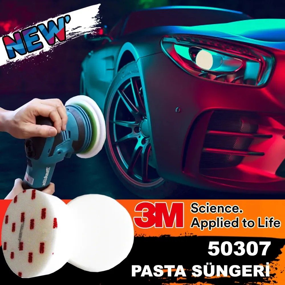 3M 50307 Polishing Thick Hard Pastry Sponge 150mm With Applicator