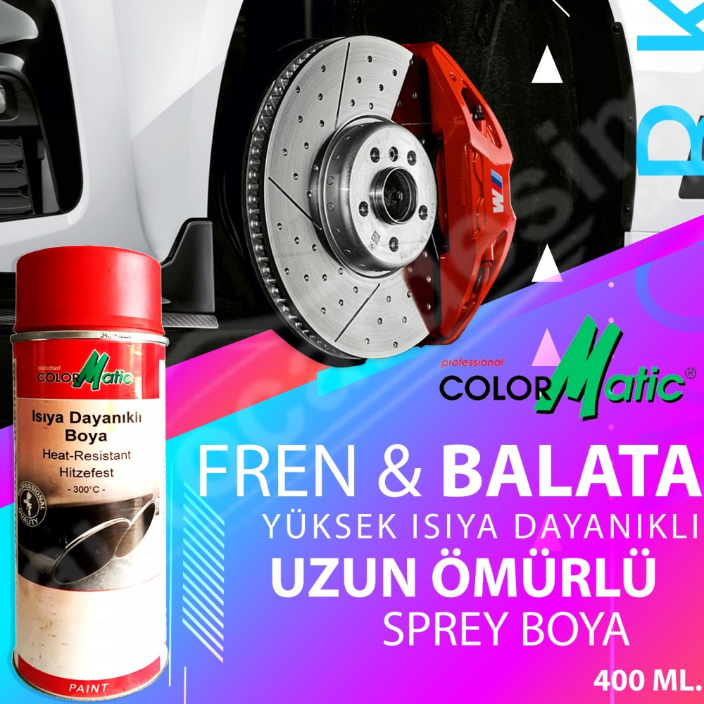 Color Matic Heat Resistant Brake Pad and Caliper Cover Paint