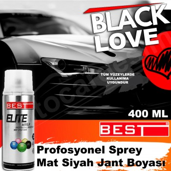 Best® Professional Spray Matte Black Rim Paint 400 ML
