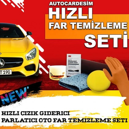 Autocardesim Quick Headlight Cleaning Kit