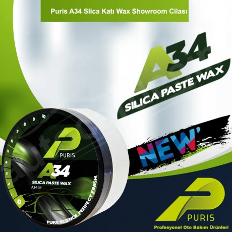 Puris A34 Fast Polisher Solid Wax Showroom Polish 227Gr