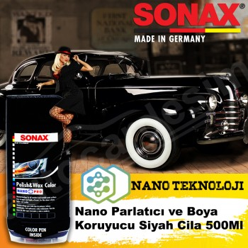 SONAX Nano Polish and Paint Protective Polish - BLACK 500ML