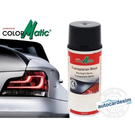 Colormatic Transparent (Stop) Spray Paint Black 150 ML