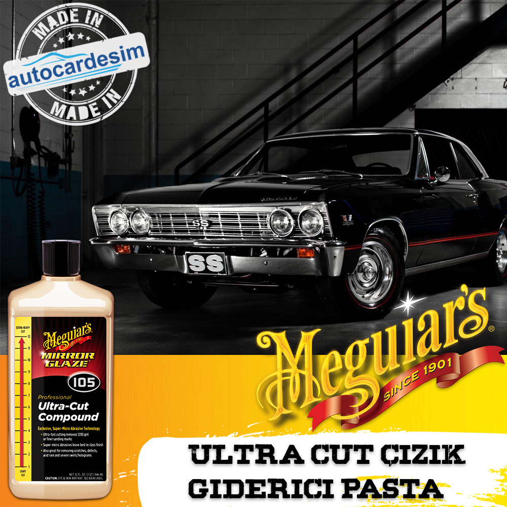 Meguiars 105 10532 Ultra Cut Scratch Remover Pie 946 ML.