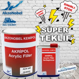 Akripol Acrylic Filler - Light Gray Primer + Harde..