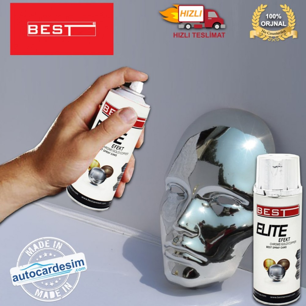 Best® Elite Efekt Sprey Boya - Krom 400 ML