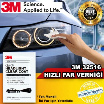 3M 32516 Fast Scratch Resistant Auto Headlight Varnish