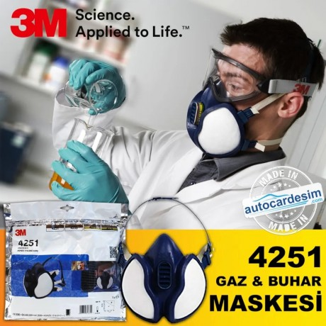 3M 4251 FFA1P2 R D Organic Gas - Steam and Paint Mask Suit