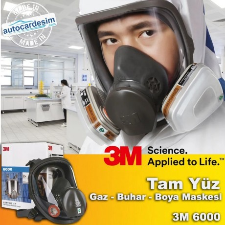 3M 6000 Full Face Gas - Steam - Paint Mask