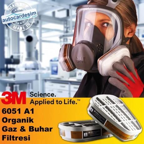 3M 6051 A1 Organic Gas - Steam - Paint Filter Set - Double