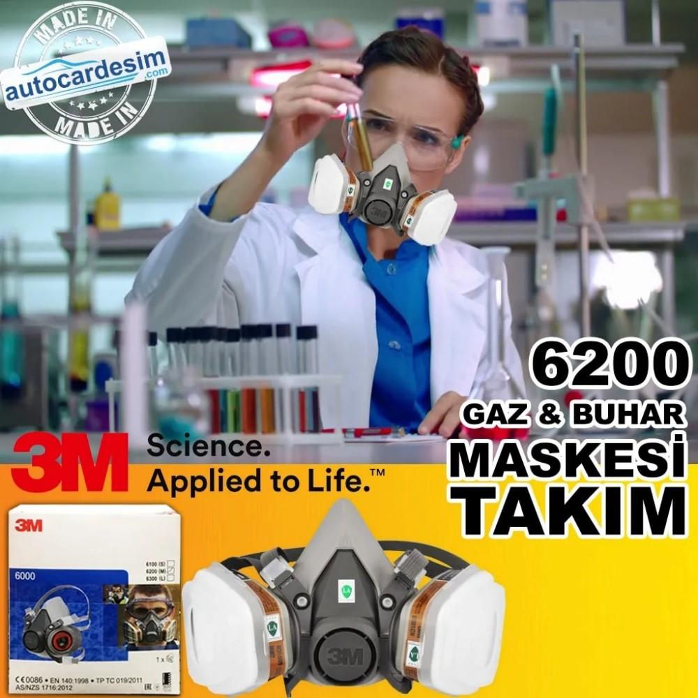 3M 6200 Gas - Steam - Paint Mask Suit