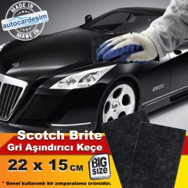 Scotch Brite Abrasive Matting Gray Felt 22x15 cm