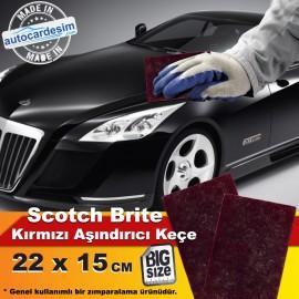 Scotch Brite Abrasive Matting Red Felt 22x15 cm