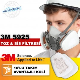 3M 5925 P2 Dust and Fog Full and Half Face Mask Fi..