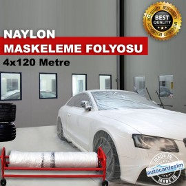 Her Marka Araca Uygun Naylon Maskeleme Folyosu 4x1..