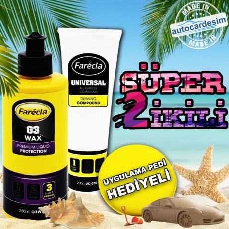 Farecla G3 Premium Cream 250 ML + Universal Pasta 200 ML + Polish Pill