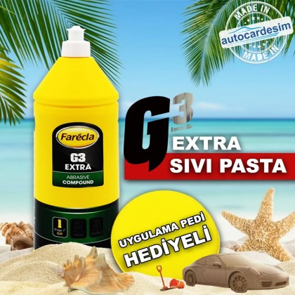 Farecla G3 Extra - Scratch Remover Pie 1Litre + Pad Gift