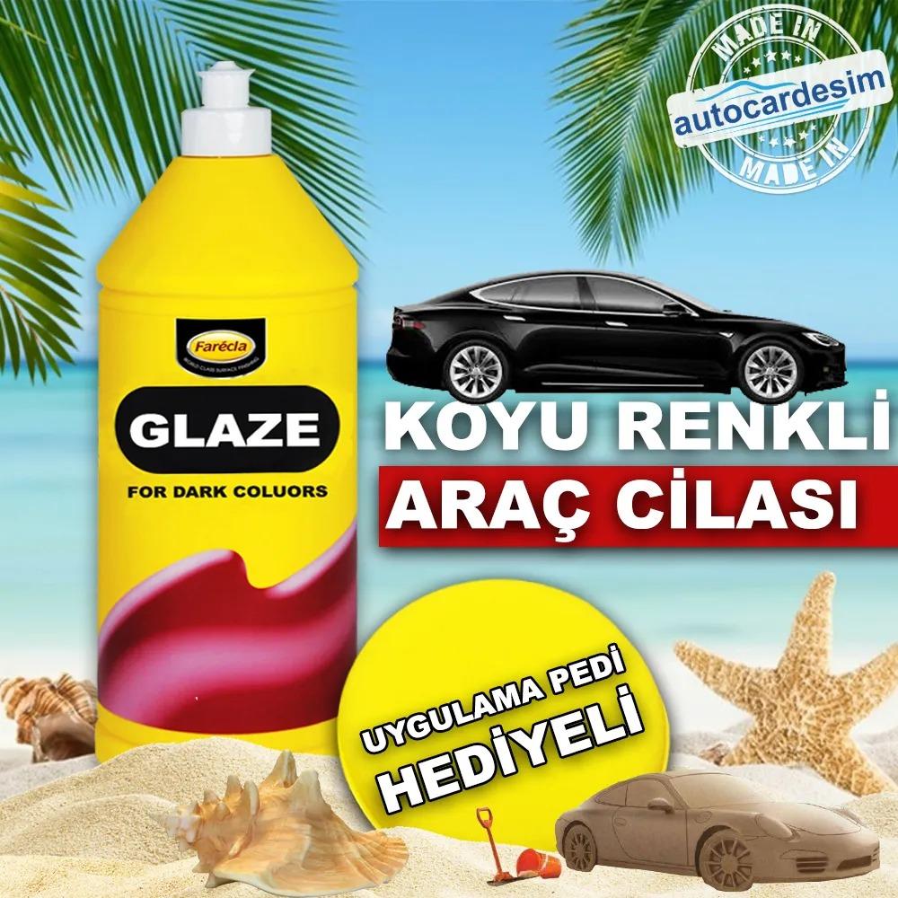 Farecla Glaze Premium Wax Dark Color Car Polish 500 ML + Pad