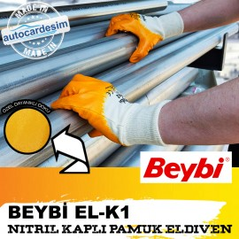 BEYBİ NITRILE COATED COTTON GLOVE EL-K1