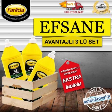 Efsane Teklif Farecla G3 Extra - Çizik Giderici Pasta 1Litre 3'Lü