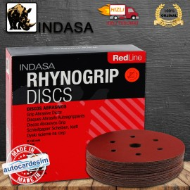 Indasa Rhynogrip Discs Red Line - 7 Hole Disc Grin..