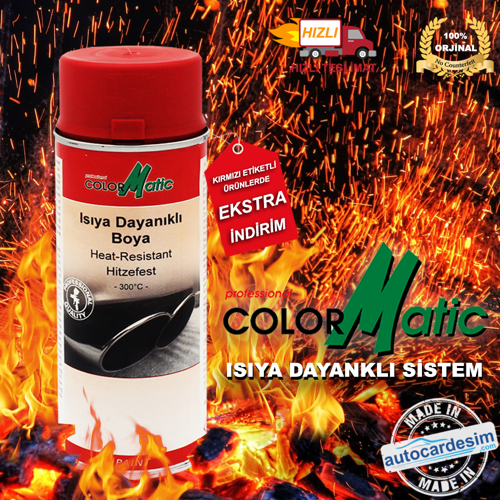 Color Matic Heat Resistant Hitzefest Red 400 ML