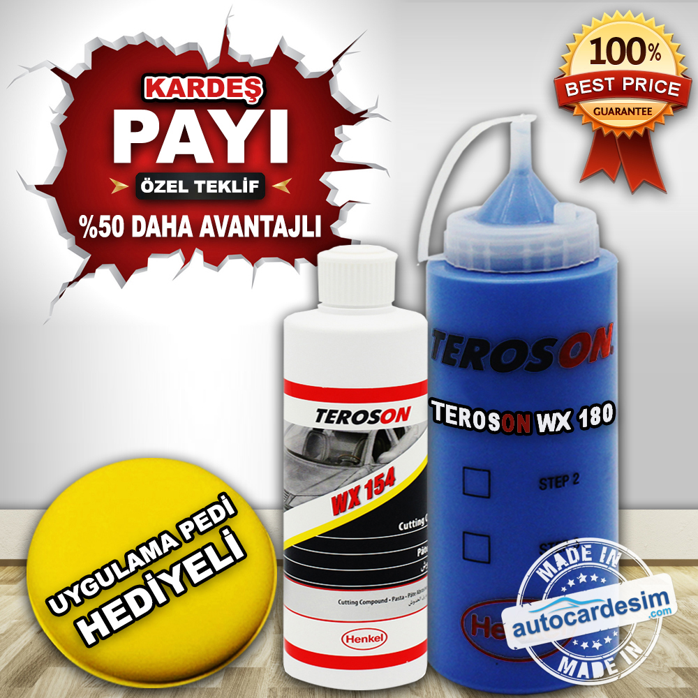 Super Deal - Teroson WX 180 Polish 250 ML + Teroson WX 154 Pastry 250 ML